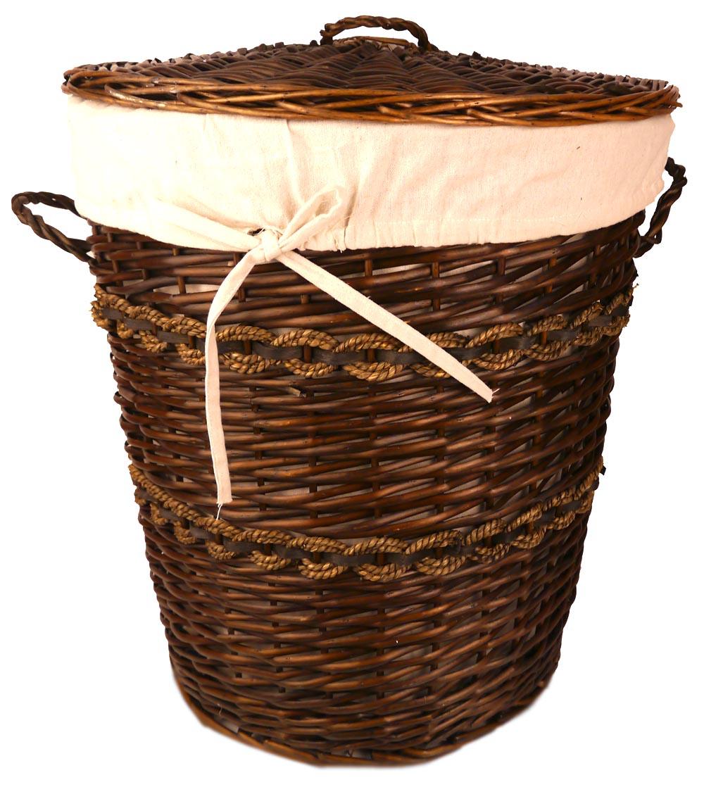 Плетёная корзина для белья своими руками